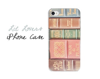 Book iPhone Case, Classic Books iPhone Cover, Vintage Books  Phone 7 Cover, Book Lover Gift, iPhone 6 Cover, Stacked Books iPhone 7 Plus