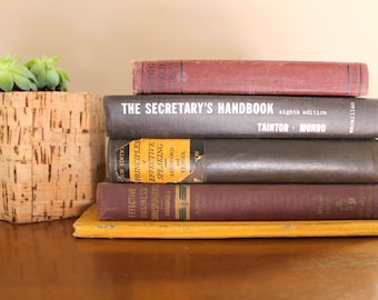 All Business... Vintage Business Book Bundle of Five, Book Set, Book Colletion, Brown Books