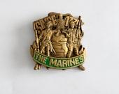 vintage Marines brass buckle