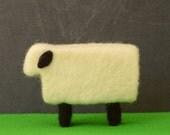 Needle Felted Sheep - farm animals felted miniature home decor eco friendly modern white black