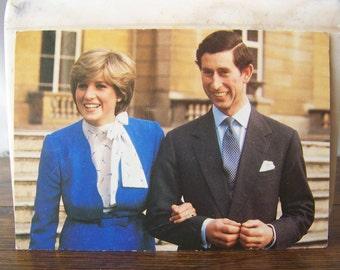 Vintage Postcard Marriage of Prince of Wales Lady Diana Spencer 1981 Royal Couple England Britain Prince Charles Princess Diana