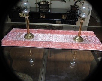 Silk Brocade Table Runner for Fine Dining by Old Silk Route
