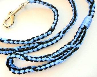 Blue and Black 5' Macrame Leash