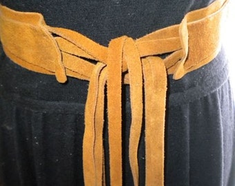 Vintage Suede Hippie Belt
