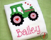 Baby Girl Outfit - Baby Girl Clothes, Baby Shower, Baby Girl Coming Home Outfit, Tractor Birthday, Valentines Day Shirt, Girls Valentines