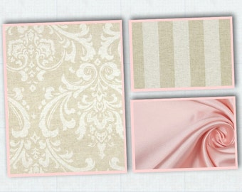 Emerson 4 piece custom crib bedding