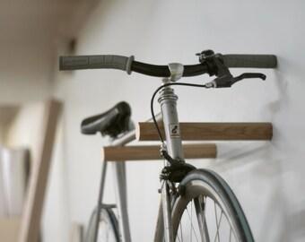 Ash wood bike rack/Bike hanger/ Bicycle storage/Bike holder/Bike mount/Bike stand/Wall/Minimalist/Wood/Bike hook/Interior design/Indoor/Gift