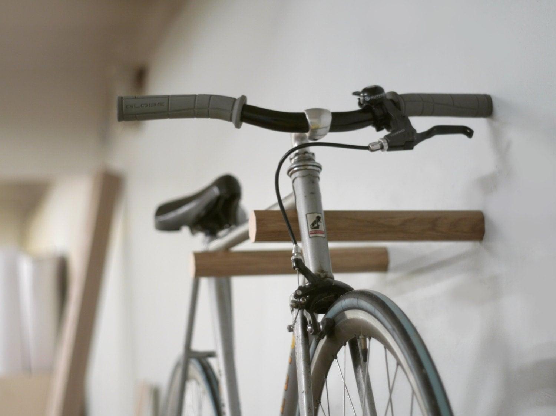 Ash wood bike rack/Bike hanger/ Bicycle storage/Bike
