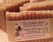 Oatmeal, Milk and Honey Scent Goat's Milk Gluten-Free Oatmeal Soap - Sensitive Skin