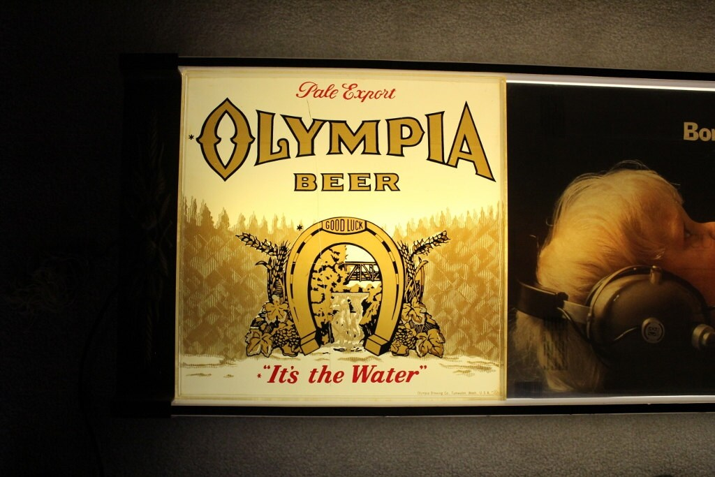 Olympia Beer Sign Lighted Sign Beer Sign Collectible by JITTT