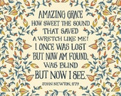 Amazing Grace How Sweet the Sound that Saved a Wretch Like Me.