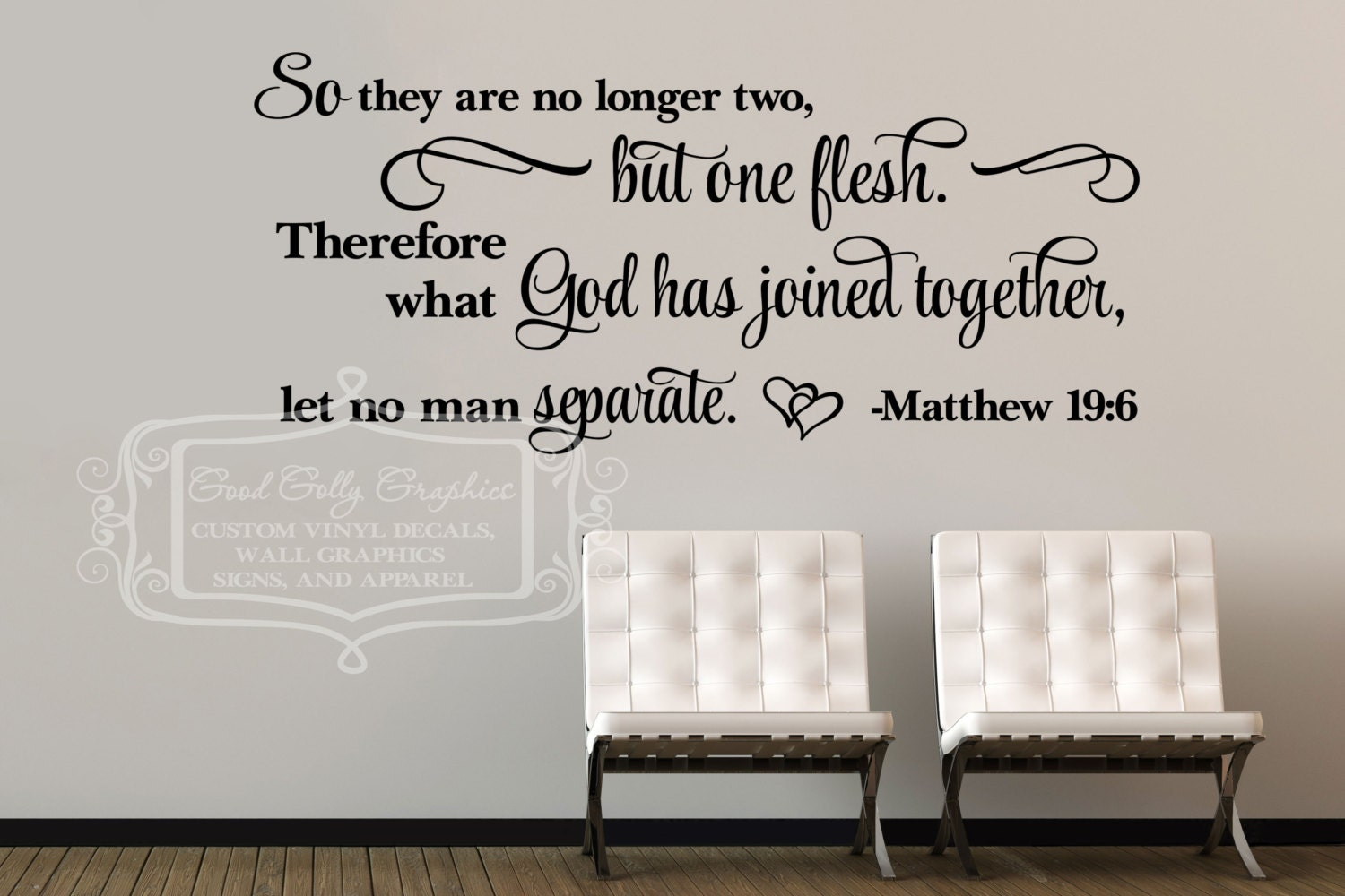 So they are no longer two matthew 196 vinyl wall decal zoom amipublicfo Gallery