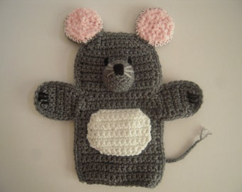 Crocheted Mouse Hand Puppet