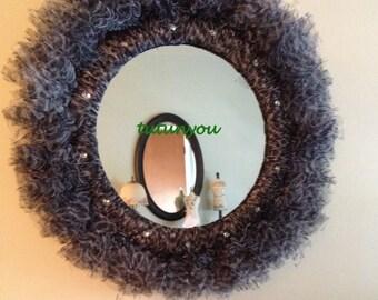 Tutu Princess Mirror-Zebra-Tutu Mirror-Round-Home Decor-Princess-Christmas-Dance Studio-Birthday