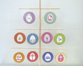 Lent Spring Holy Week Easter Ornaments with TREE -  READY to SHIP