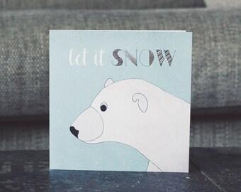 Polar Bear Festive Christmas Card