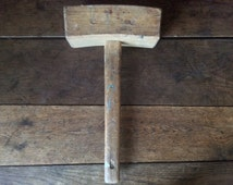 Vintage French Large Wood Mallet Hammer Tool circa 1960-70's / English Shop