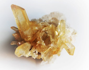 Citrine Quartz Crystal Cluster