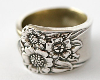 Vintage Spoon Ring (Silver Plated)- April,1954