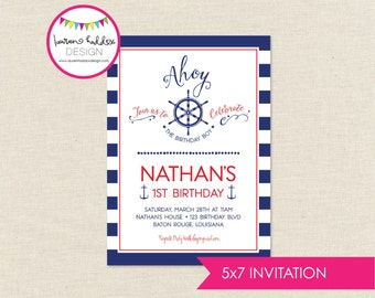 DIY, Ahoy Birthday Party INVITATION ONLY