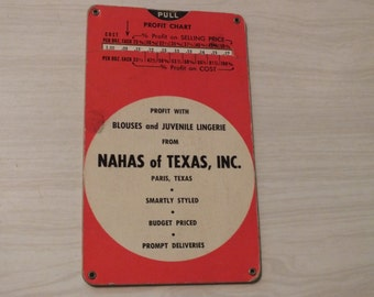 Profit Chart, Profit with Blouses and Juvenile Lingerie from Nahas of Texas, Inc