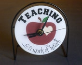 Teacher  Recycled CD Clock Art