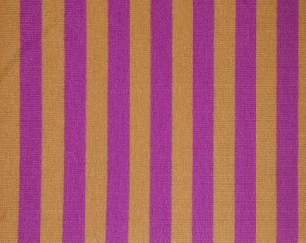 "Fuchsia Pink and Orange apx. 3/8"" Cotton Lycra STripe Knit Fabric"