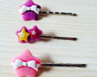 Kawaii star bobby pin set