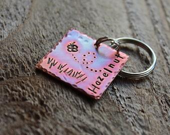 "Hazelnut Custom Pet ID Tag, 1"" copper square"