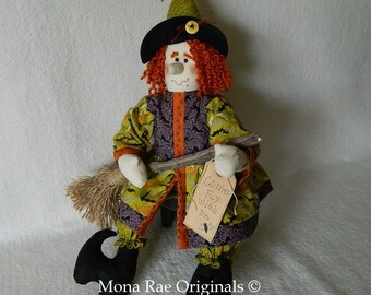 Halloween Witch Doll - Henrieta ~ 25 Inches Tall ~ Original Design