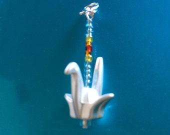 Last One! Crane Zipper Pull charm