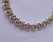 Sterling Silver Chain Bracelet, Rhinos Chainmail