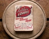 Vintage Lather Leaves Paper Soap Sheets - Great Retro Laundry Room Decor!