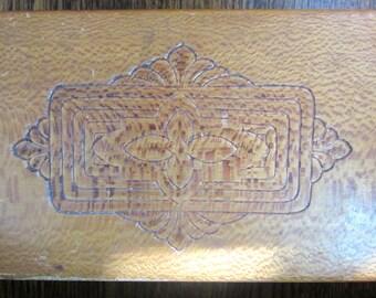 Antique Wood Trinket Box