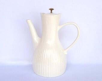 Ernest Sohn COFFEEPOT by Hall/ Mid Century Modern White Ware
