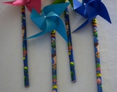 Toy Story 2 Birthday Party Favor 6 Mini Pinwheel pencils (Custom orders welcomed)