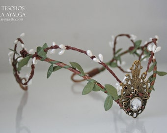 Woodland tiara - elven headpiece - fairy crown