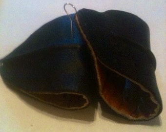 Leather earrings, two toned. (Larger size)