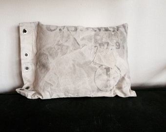 Genuine Vintage Mail Bag Pillow (Large)-Industrial Decor-Postal Chic-One-of-A-Kind