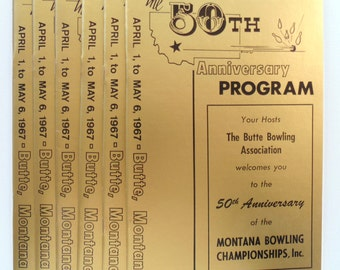 Seven 50th Anniversary Programs BUTTE Montana BOWLING CHAMPIONSHIPS 1967 N O S