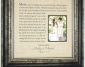Burlap Wedding Decoration, Mother of the Bride Gift, Mom After The Wedding, Burlap Wedding Decor, wedding cake topper, Burlap frame, 16 X 16