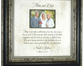Parent Wedding Gift, Mother of the Groom Gift, Mother of the Bride Gift, Wedding Gifts for Parents, Parents of the Bride Gift, 16 X 16