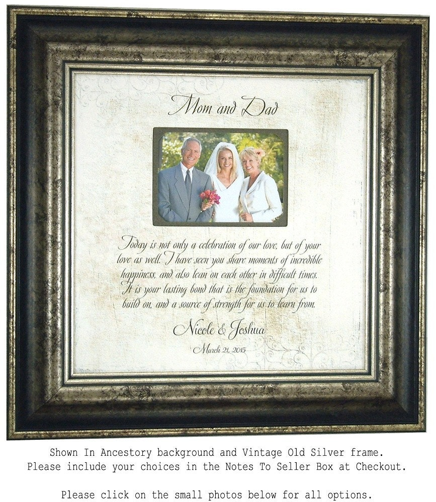 Wedding Gifts For Grooms Parents: Parent Wedding Gift Mother Of The Groom By PhotoFrameOriginals