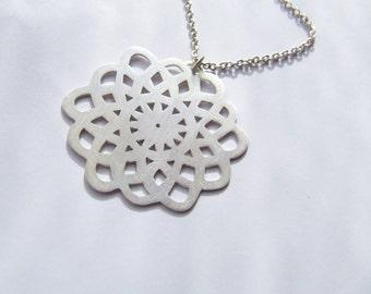 Napperon n1 - handmade sterling silver pendant