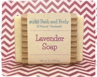 Lavender Soap - All Natural Soap, Handmade Soap, Vegan Soap, Face Soap