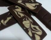 100 % Sugar free Mocha Vanilla Marble 3 bars our Signature Vegan Milk Chocolate with Vegan white chocolate