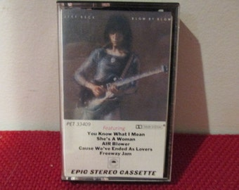 Tested and Working Vintage Audio Cassette Tape Jeff Beck Blow by Blow VG Condition