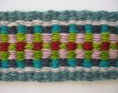 hand-woven wool long neck banjo strap