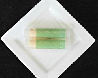 Green Apple Lip Balm, Vegan Lip Balm, Organic Lip Balm