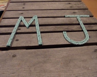 Nursery Decor Nautical Rope Letters 8 Inch Letters Personalize For Baby Word Art Text